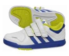 Adidas B40720 kék-lime-fehér trainer gyermek sportcipő